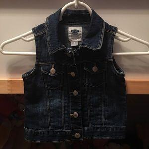 Old Navy toddler denim vest